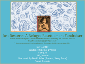 Just Desserts: A Refugee Resettlement Fundraiser @ Sundance Cinema, 2nd Floor